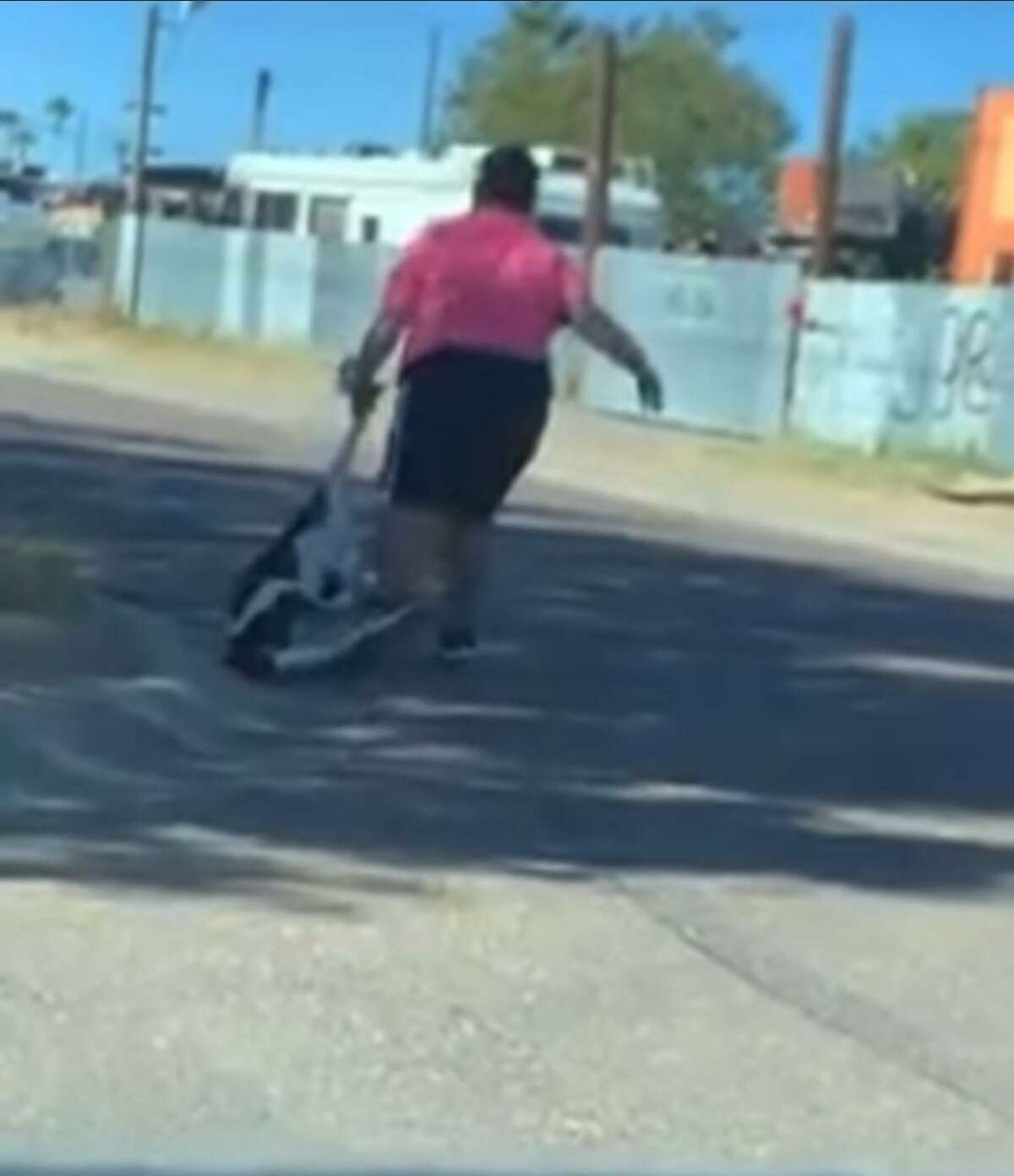 Laredo police arrested this juvenile video recorded dragging a dog. She was charged with animal cruelty.