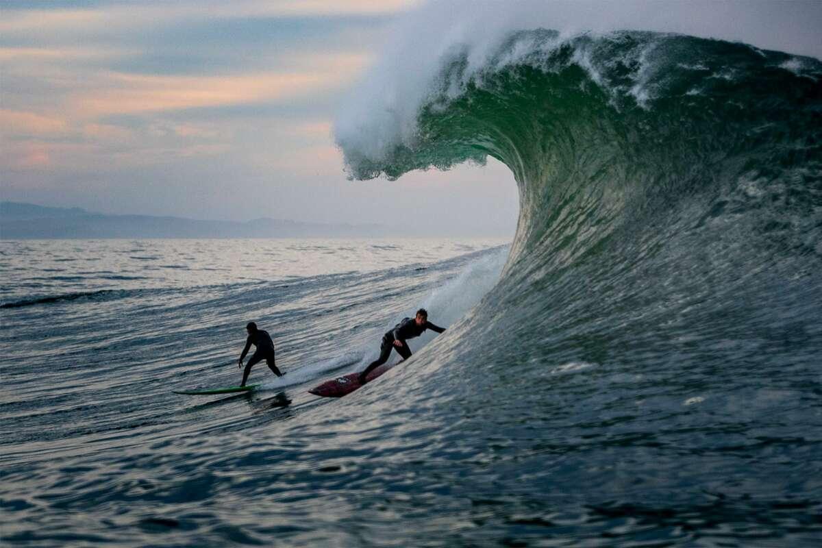 Mavericks, off the coast from Half Moon Bay, Calif., on Dec. 4, 2020.