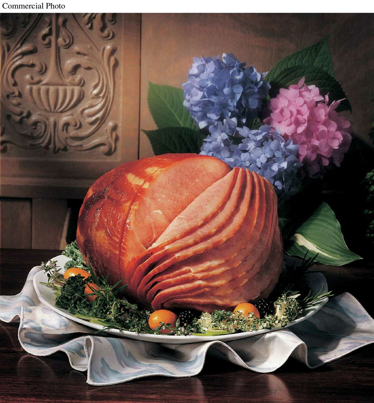 Spiral-sliced ham is a popular holiday meal for a crowd. (PRNewsFoto/Smithfield Foods)
