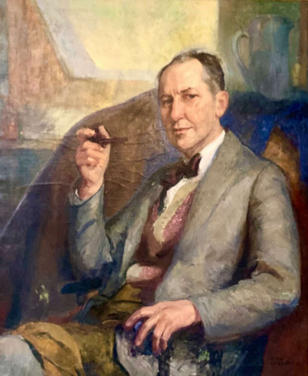 Portrait of George Hand Wright, an internationally acclaimed early Westport artist, by Karl Anderson, another of Westport's famed artists.