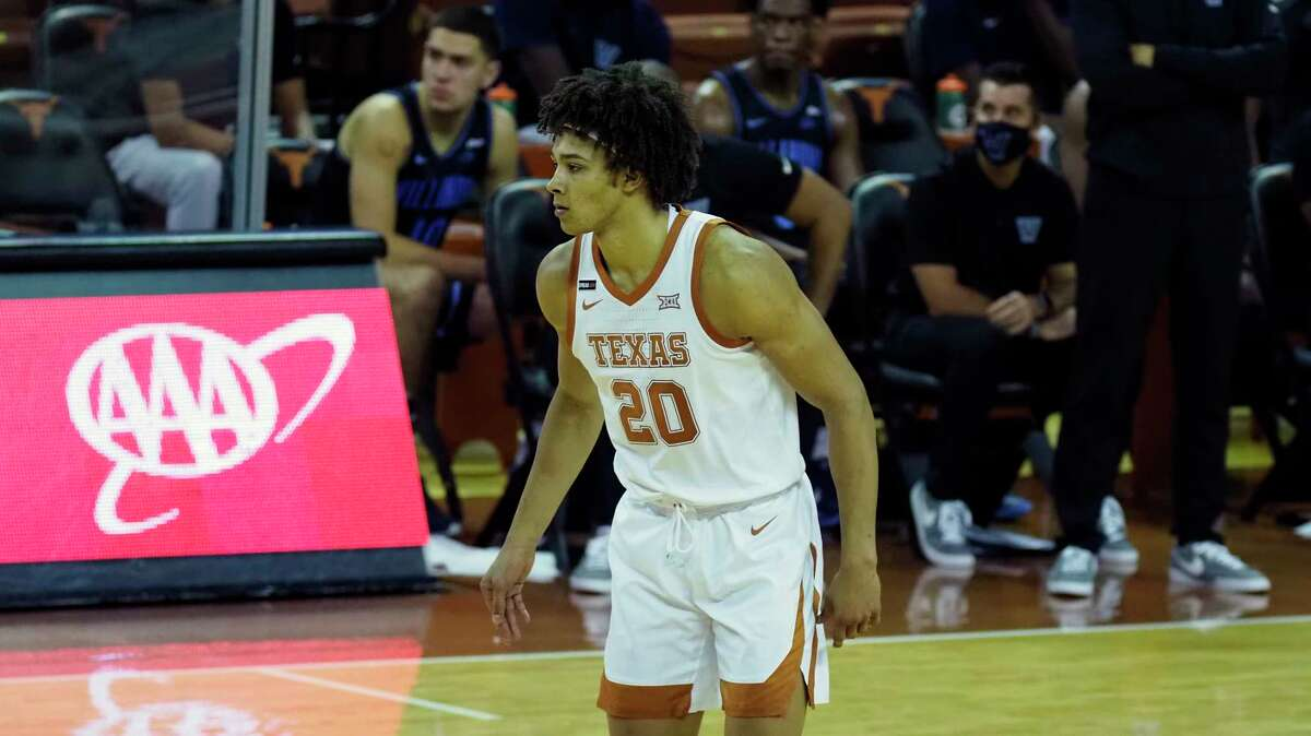 Texas forward Jericho Sims is averaging 6.2 points on 47.6 percent shooting, 6.4 rebounds, 3.2 fouls, 1.2 turnovers and 0.4 blocks through five games.