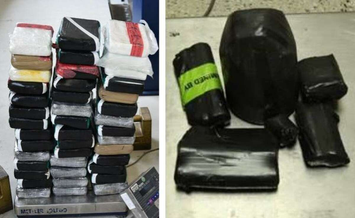 U.S. Customs and Border Protection officers said these bundles of cocaine and meth had an estimated street value of more than $900,000.