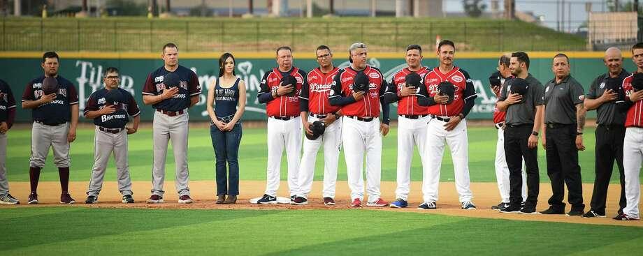 Los Tecolotes De Los Dos Laredos celebran su primer juego en el estadio Uni-Trade esta temporada con una ceremonia el sábado 6 de abril de 2019. Photo: Danny Zaragoza /Laredo Morning Times