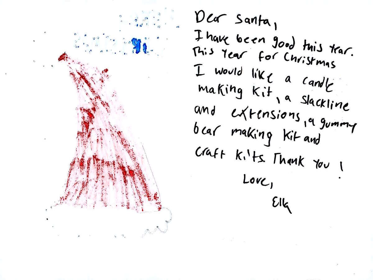 A letter to Santa from a Connecticut child that was posted on the USPS Operation Santa site. Letters are