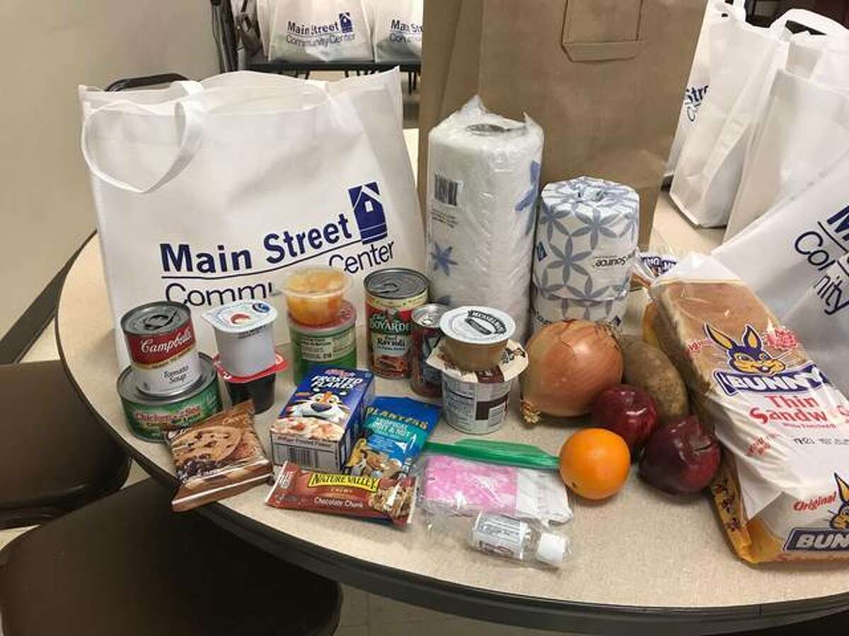 These are some of the food items that are distributed to clients by Main Street Community Center. Thanks to donations, grants and sponsors, the center continues to serve local seniors despite having several of its fundraising events canceled.