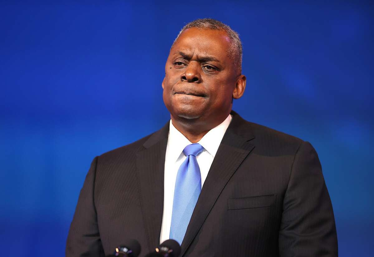 Retired Army Gen. Lloyd Austin speaks after being formally nominated to be defense secretary by President-elect Joe Biden in Wilmington, Del., on Wednesday.