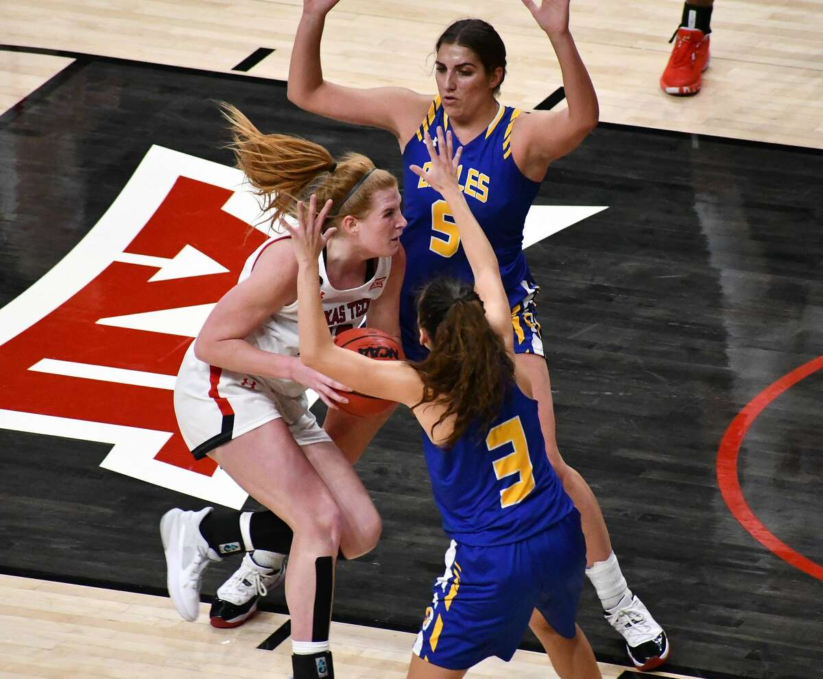 The Texas Tech women's basketball team hosted Angelo State in a non-conference women's college basketball game on Dec. 9, 2020 in the United Supermarkets Arena in Lubbock.