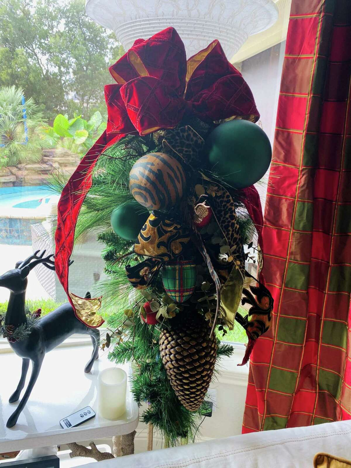 Christmas decorations that will be seen on the 59th annual Blue Triangle Christmas Tour, conducted virtually this year via YouTube.