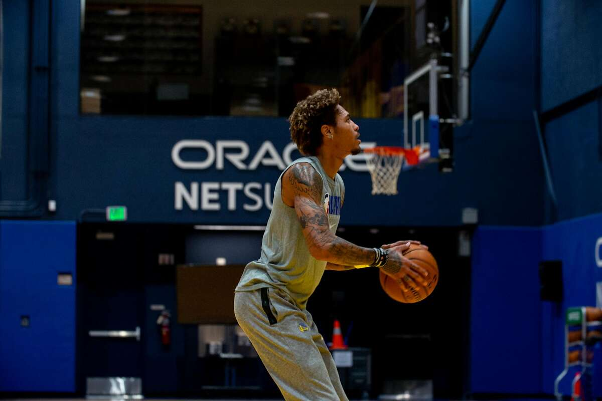Golden State Warriors Forward Kelly Oubre Jr. during individual workouts at Chase Center on December 4, 2020.