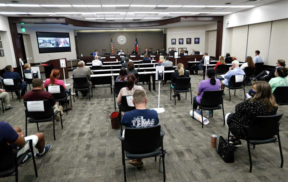 The Humble ISD board meets to discuss the reopening of schools, Monday, August 3, 2020, in Humble.