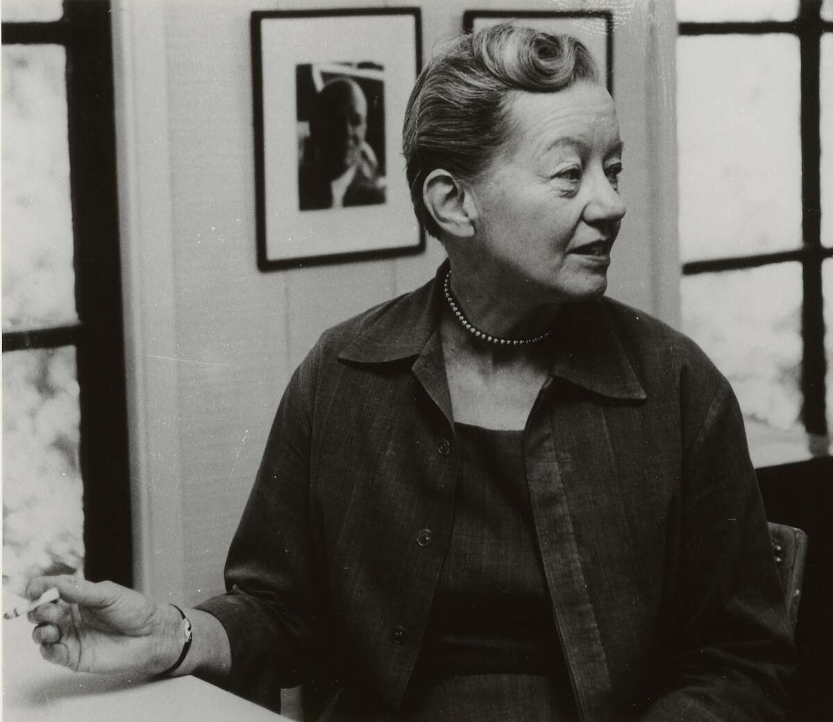 A photograph from the early 1960s of Catherine Bauer Wurster, a nationally influential advocate for diverse low-income housing who taught at UC Berkeley for more than a decade before her death in 1964. In her honor, the academic building that houses the College of Environmental Design was renamed Bauer Wurster Hall in December 2020.