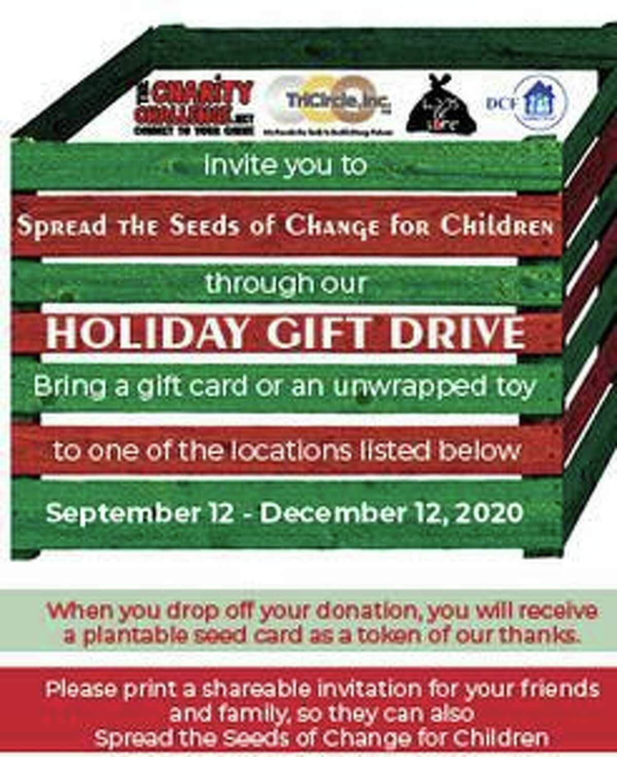 Seeds for Change is holding a gift drive and needs support to make it a success.