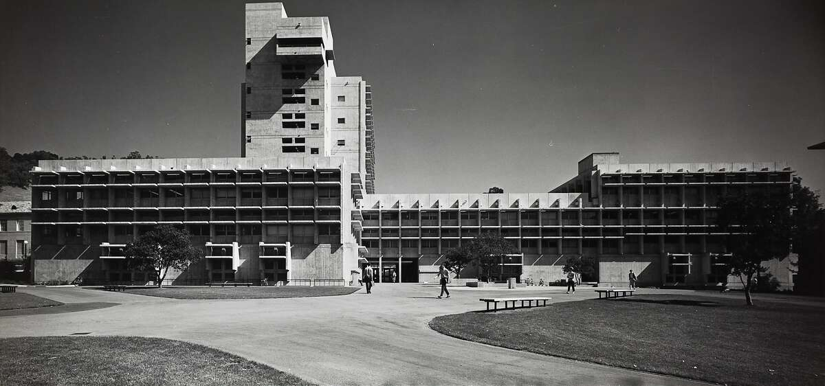 Bauer Wurster Hall as it looked around the time it opened in 1965. Until December 2020 it was known as Wurster Hall. The new name is in recognition of influential housing theorist Catherine Bauer Wurster.