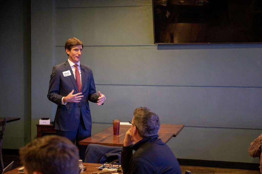 The Midland Liberty Leadership Council hosted State Rep. Brooks Landgraf during a Permian Perspective lunch about the upcoming legislature session Wednesday, Dec. 9, 2020 at Gerardo???s Casita.   Jacy Lewis/Reporter-Telegram Photo: Jacy Lewis/Reporter-Telegram