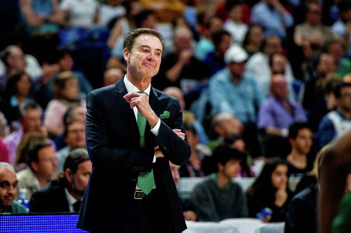 MADRID, SPAIN - APRIL 17: Rick Pitino during the EuroLeague Play Off match between Real Madrid and Panathinaiskos on April 17, 2019 in Madrid, Spain. (Photo by Sonia Canada/Getty Images)