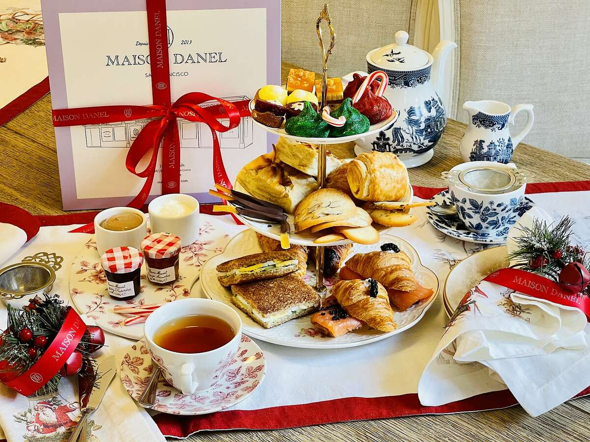 San Francisco's Maison Danel is offering a Christmas-themed afternoon tea set, available for takeout all month.