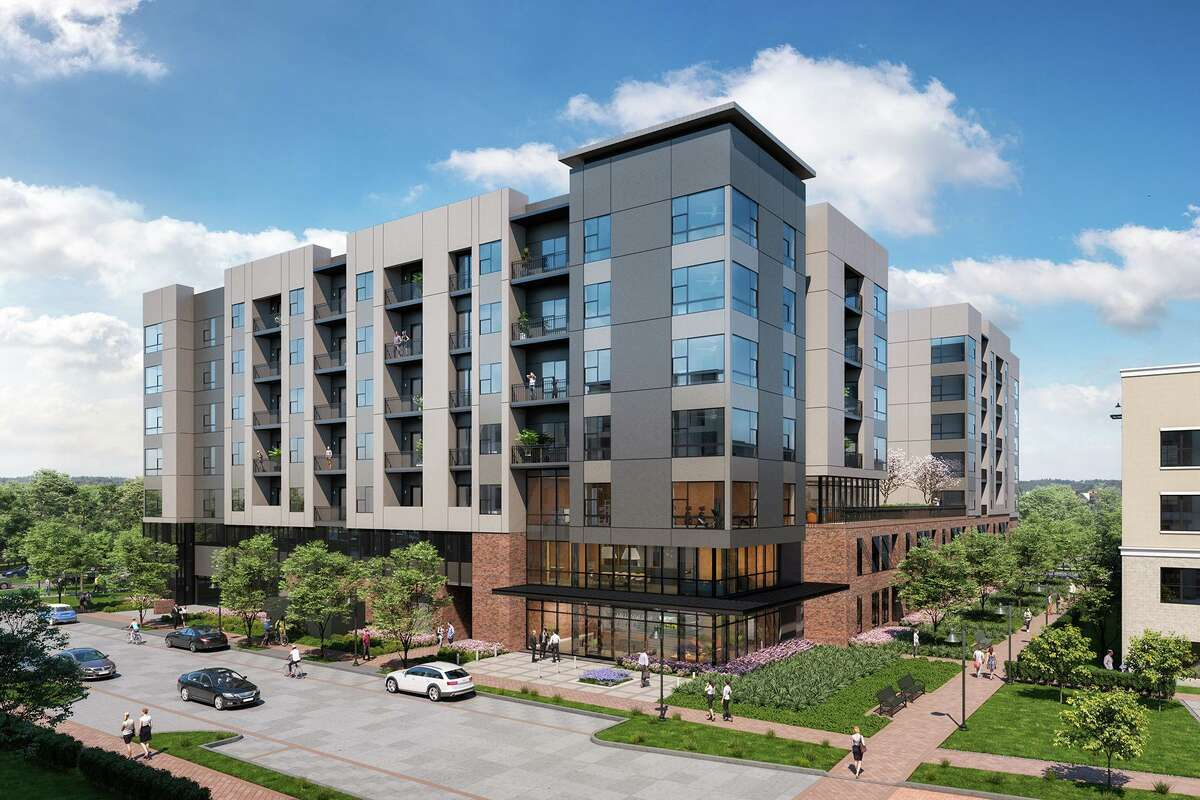 """Officials with the Howard Hughes Corp. have announced that the company's newest residential community is open. Called The Lane at Waterway, the rental property described in a press release as a """"seven-story, urban boutique multi-family community, is located on more than 1.6 acres at the intersection of Six Pines Drive and Timberloch Place."""
