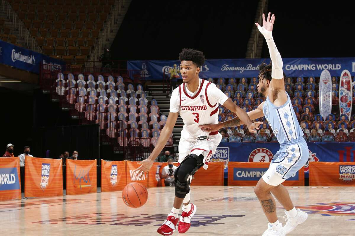Stanford Cardinal forward Ziaire Williams (3) drives to the basket against the North Carolina Tar Heels during the second half of the second round of the Camping World Maui Invitational on Dec. 1, 2020, at the Harrah's Cherokee Center in Asheville, N.C.