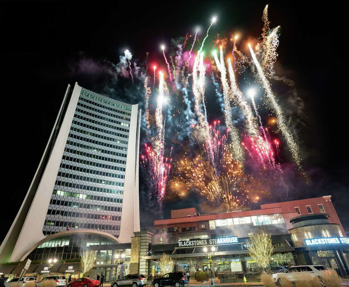 Fireworks illuminate Downtown Stamford annually for Heights and Lights - the city's Christmas celebration. This year, it will broadcast on YES Network on Dec. 10 to provide a socially distant celebration for the COVID era.