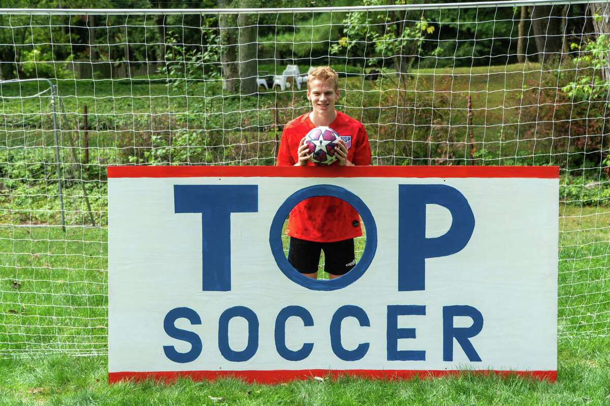"""Bruno Guiduli, a junior at Staples High School and an honor student, has created a fundraiser that he calls """"Scoring for TOPSoccer,"""" to benefit special needs soccer players in Connecticut."""