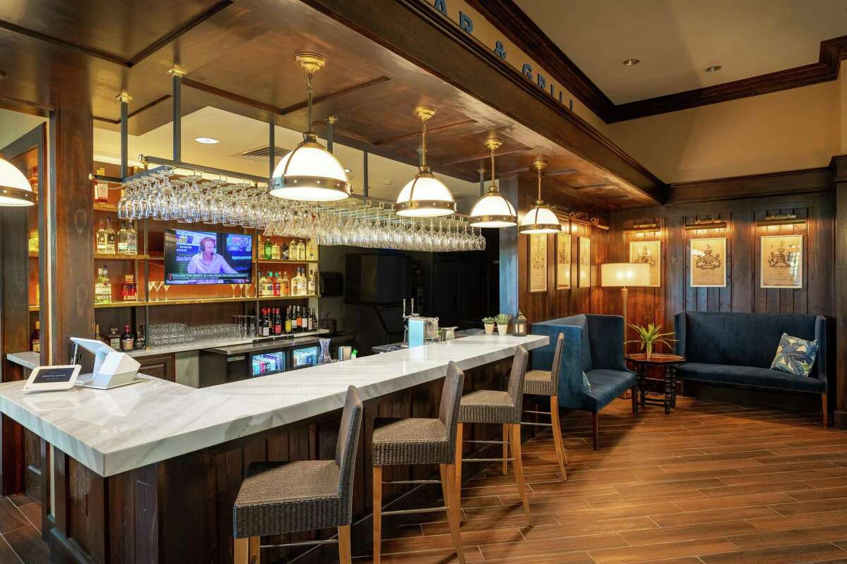 Blue Lagoon Bar & Grill is part of the Amenity Village clubhouse, at 15808 Crystal Terrace Drive, in the Balmoral community.