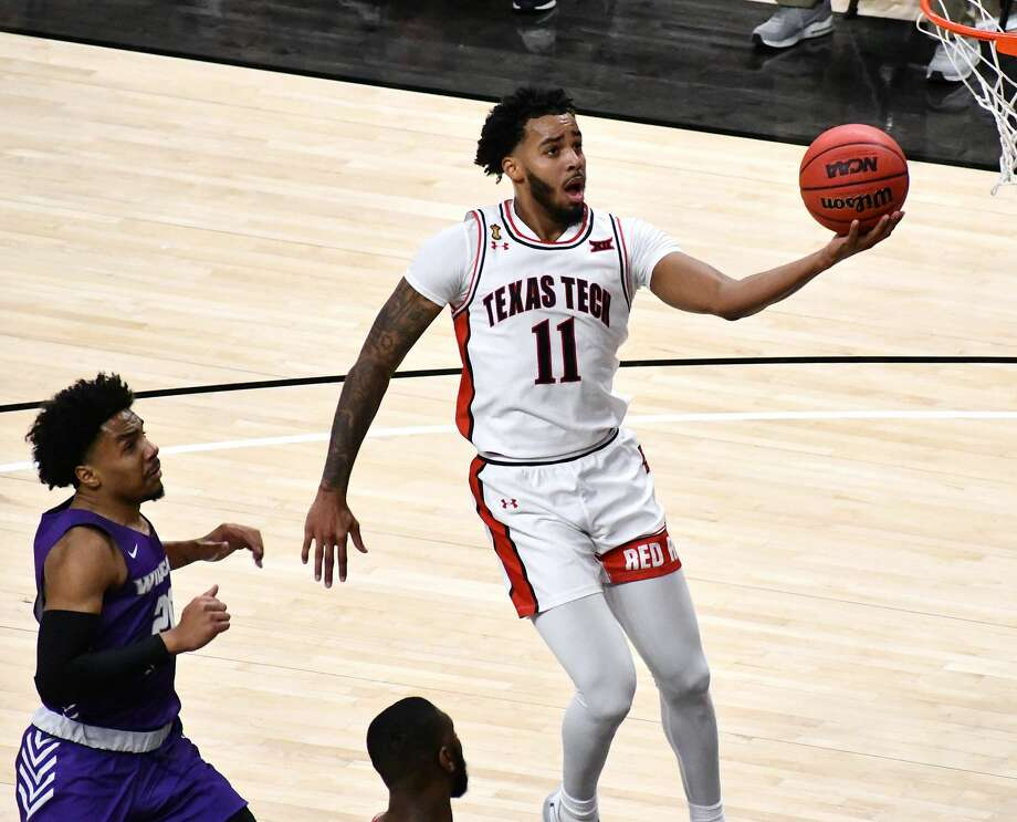 Texas Tech's Kyler Edwards had a team-high 19 points to lead the Red Raiders to a 51-44 win over Abilene Christian on Dec. 9, 2020 in the United Supermarkets Arena in Lubbock. Photo: Nathan Giese/Planview Herald
