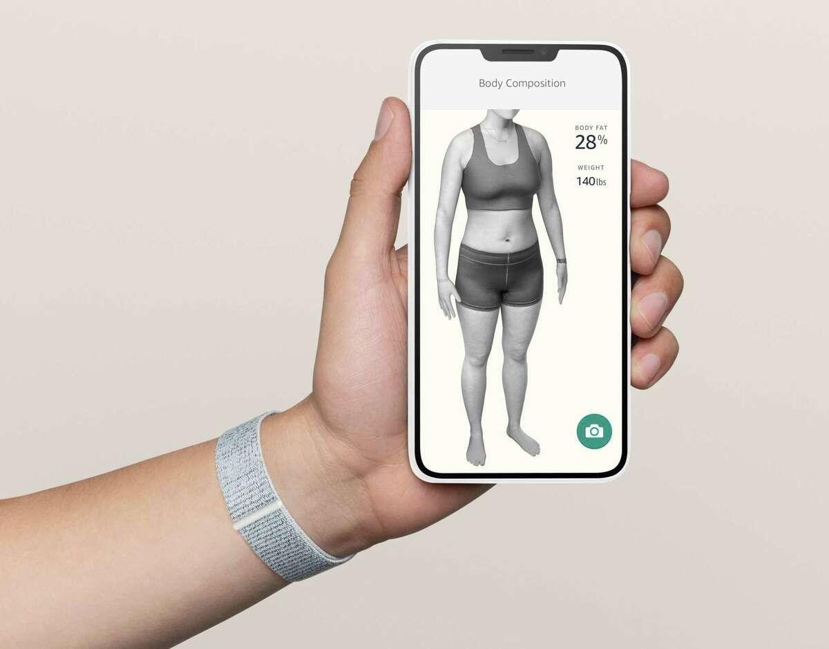 The optional body feature in the Halo app asks you to take four photos of your body in underwear or skintight clothes, and the generates an estimate of your body fat composition and a 3-D model of your body.