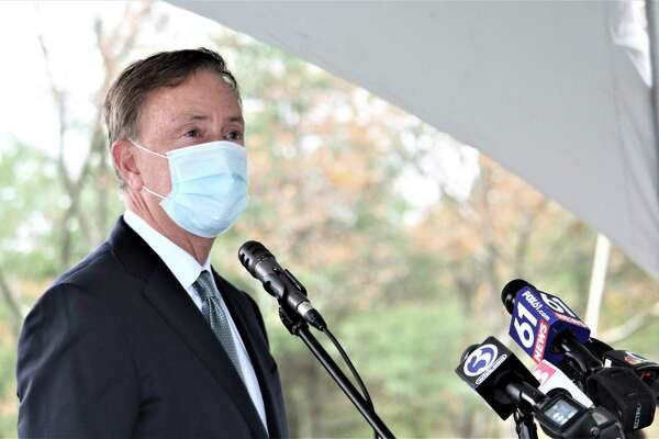 A file photo of Gov. Ned Lamont. The governor received his first dose of the COVID-19 vaccine on Tuesday, Feb. 16, 2021.
