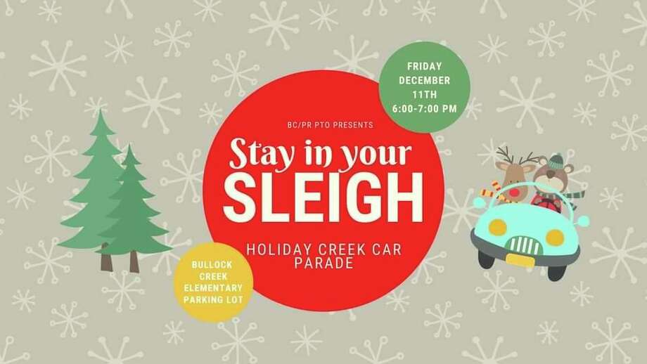 Friday, Dec. 11: Stay in your Sleigh - Holiday Creek Car Parade, hosted by Bullock Creek/Pine River PTO, is set for 6 to 7 p.m. at Bullock Creek Elementary School, 1037 S Poseyville Road. (Facebook/Bullock Creek/Pine River PTO)