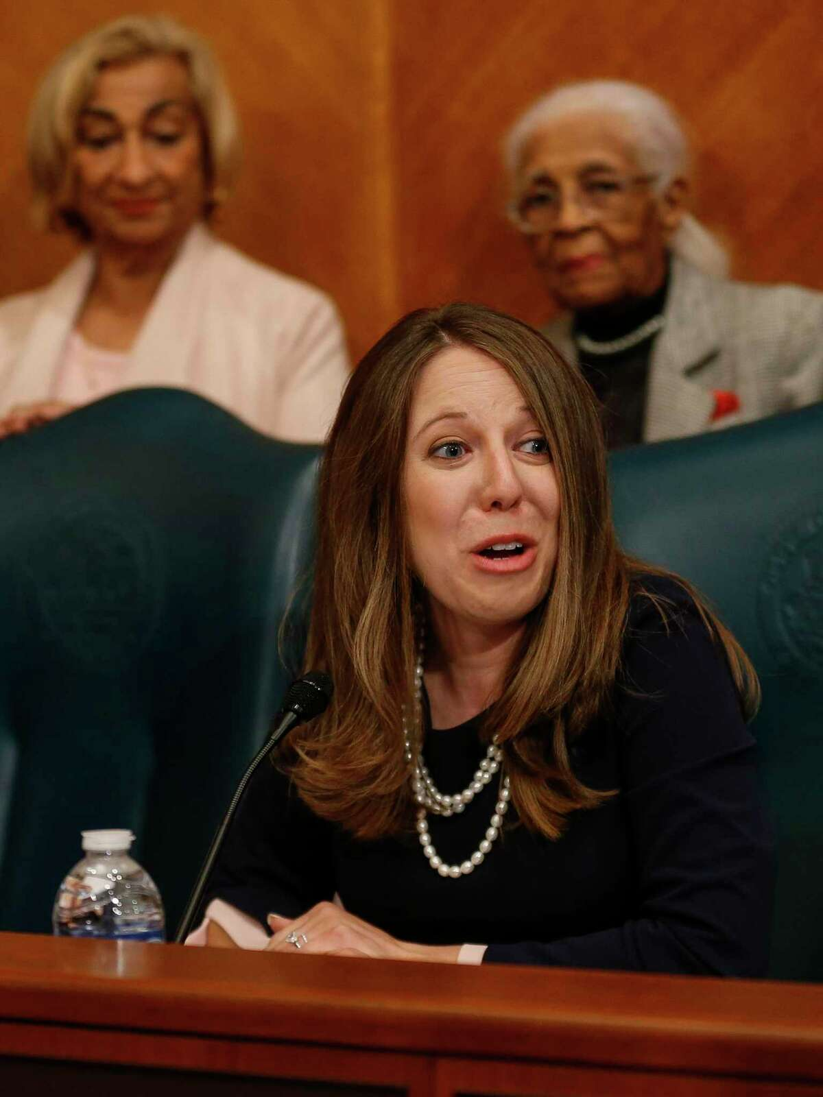 Amy Peck, Council Member District A, during the council meeting at City Hall Thursday, Jan. 2, 2020, in Houston.