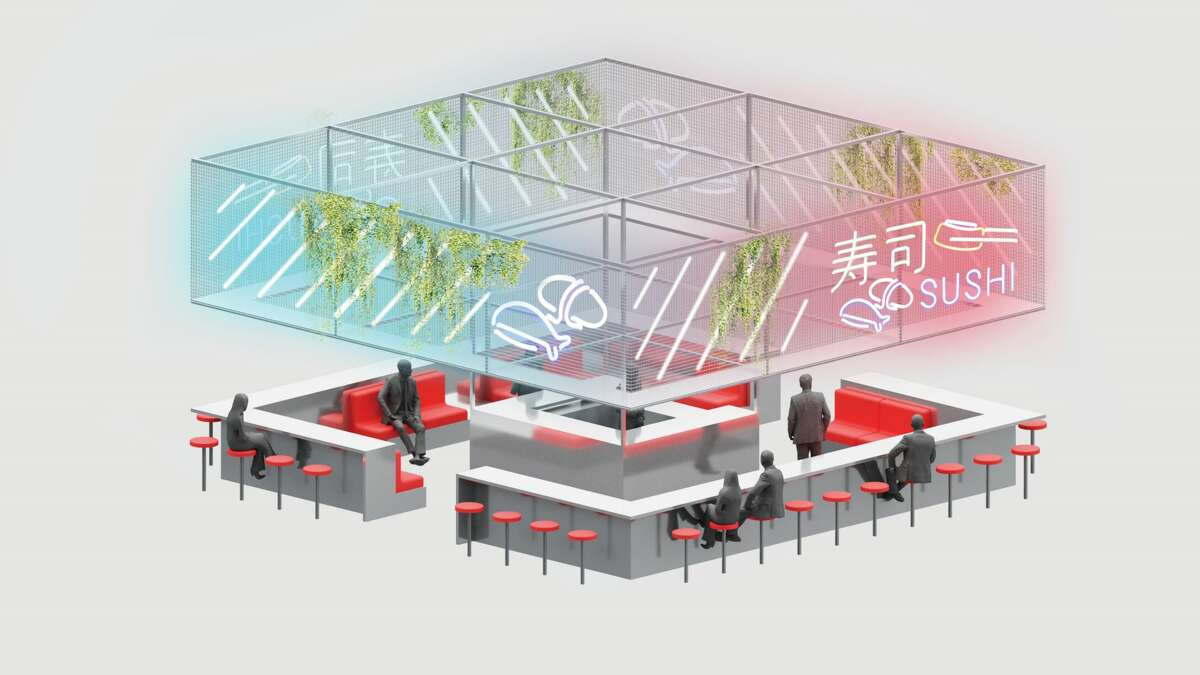 Post Market food stall rendering.