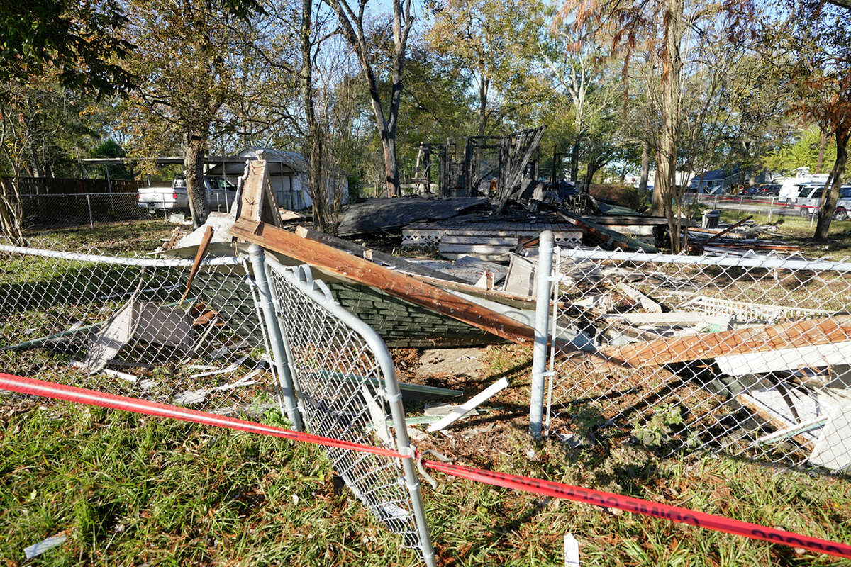 One person is dead after a suspected gas explosion late Wednesday night, according to officials, at a home located at 200 S. Vernon St. shown Thursday, Dec. 10, 2020 in Tomball.