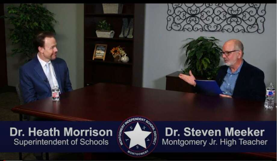 """The 32-minute long """"A Conversation with Dr. Heath Morrison: First 100 Days"""" features longtime Montgomery High School teacher, Steven Meeker, interviewing the superintendent who stepped into his role shortly before the new school year Photo: Submitted Photo / Submitted Photo"""