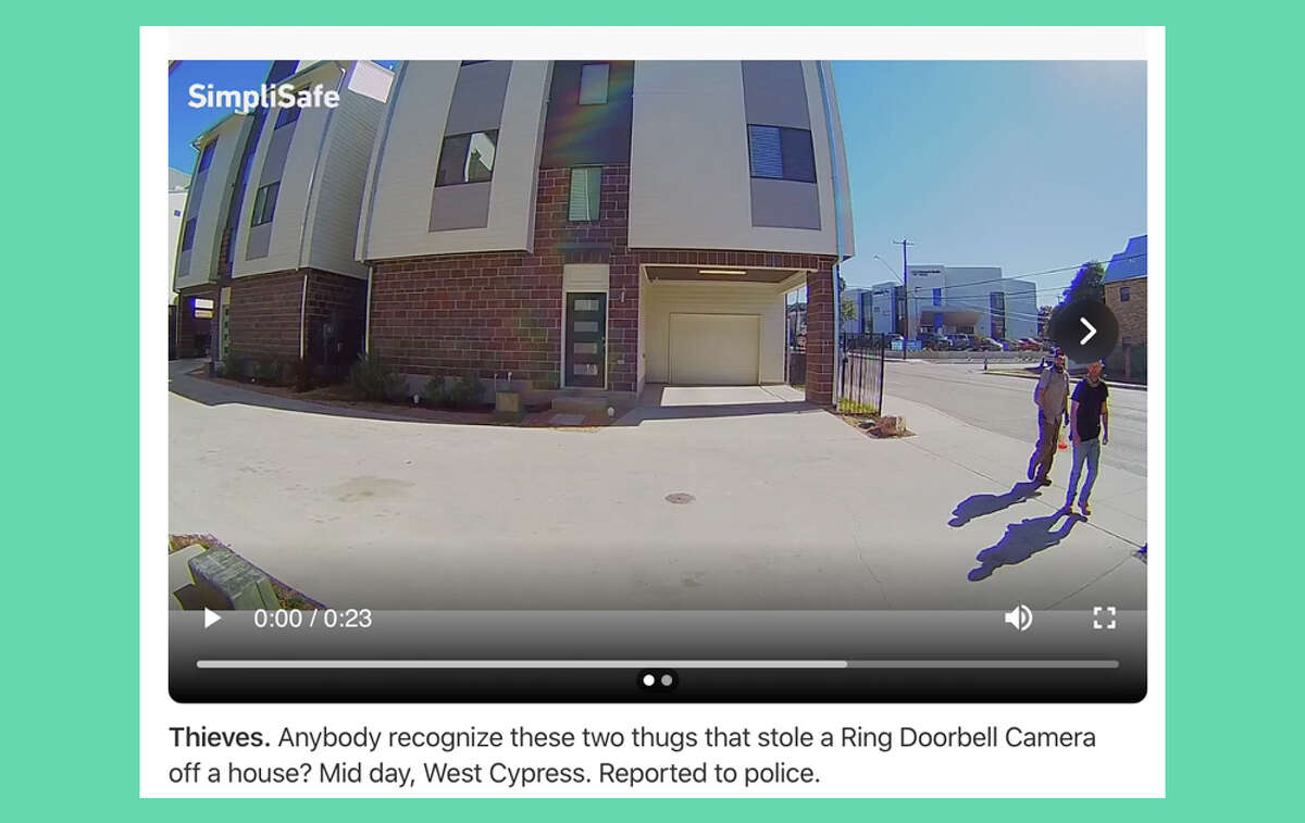 Thieves took a ring doorbell camera, a local said.