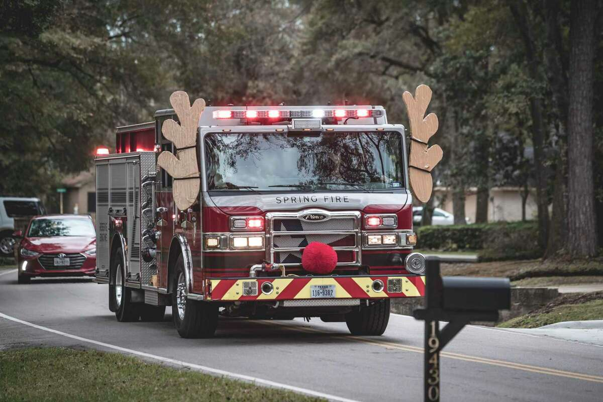 Holiday events at Spring fire stations were canceled due to the pandemic, so the Spring Fire Department - with the help of other local first responders and Santa himself - have decided to bring the holiday spirit to residents in their neighborhoods.