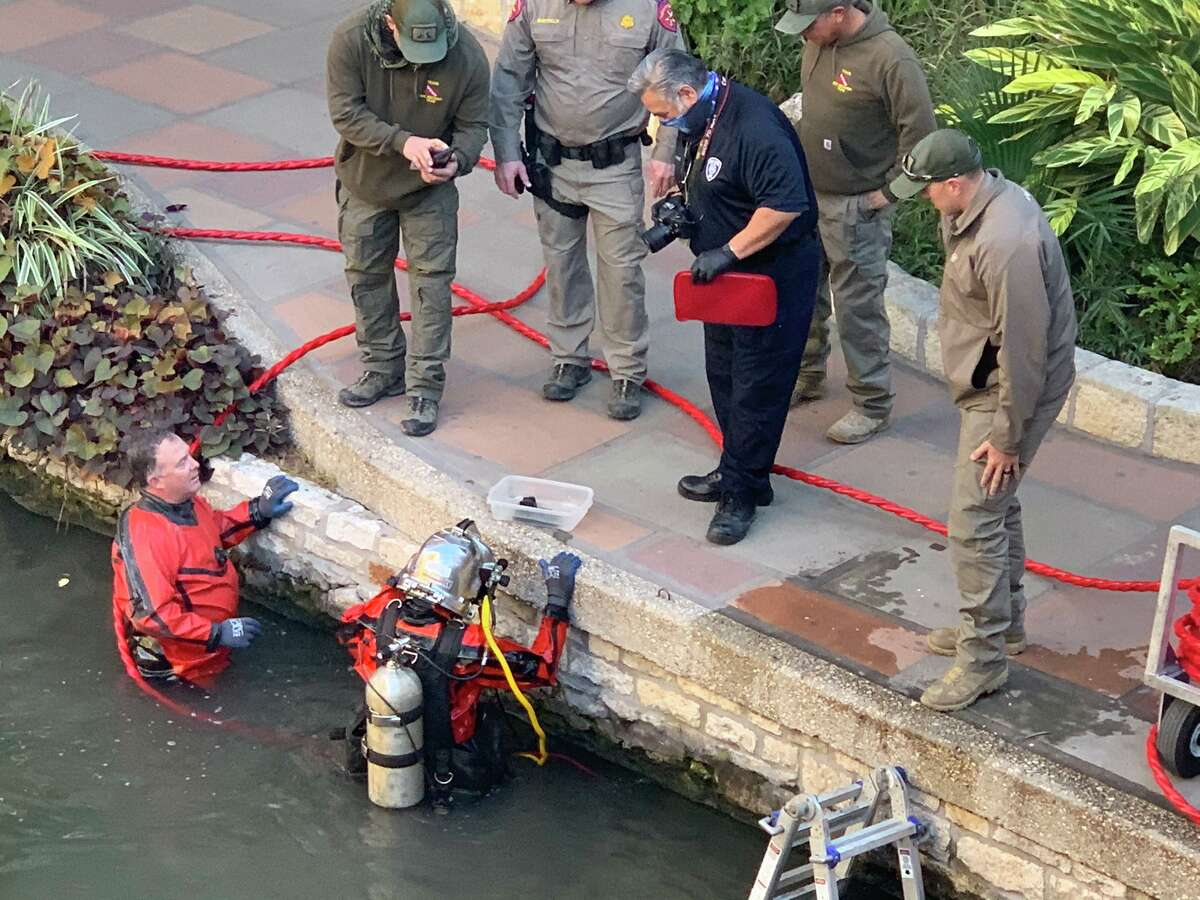 San Antonio police on Thursday fished a firearm out of the San Antonio River in the downtown River Walk area. According to police, the gun was used in a shooting at a nearby Whataburger earlier this month.