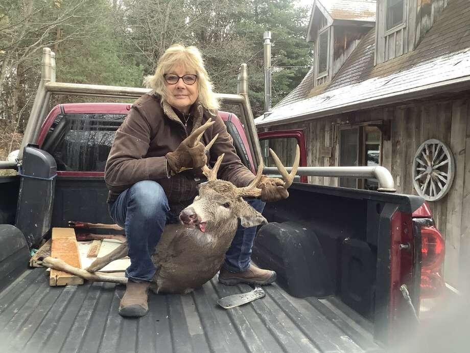 Lynn Herkelrath, 9 point, 17 7/16-inch spread. Shot in Pierport Nov. 15, 2020. Photo: Courtesy Photo