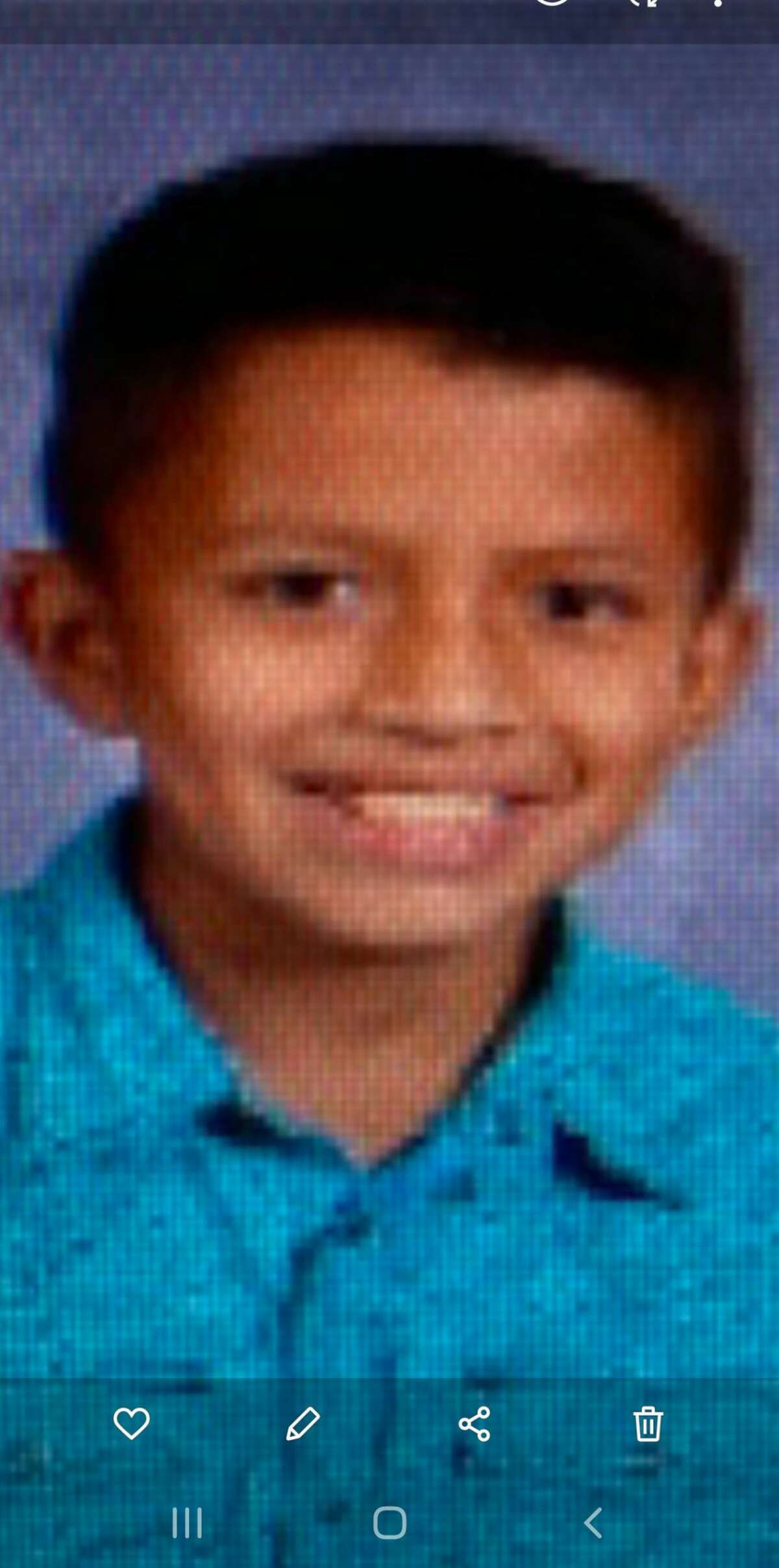 """Adolfo Vera is approximately 4'4"""", 80lbs, last seen wearing a yellow shirt, black pants, dark colored coat."""