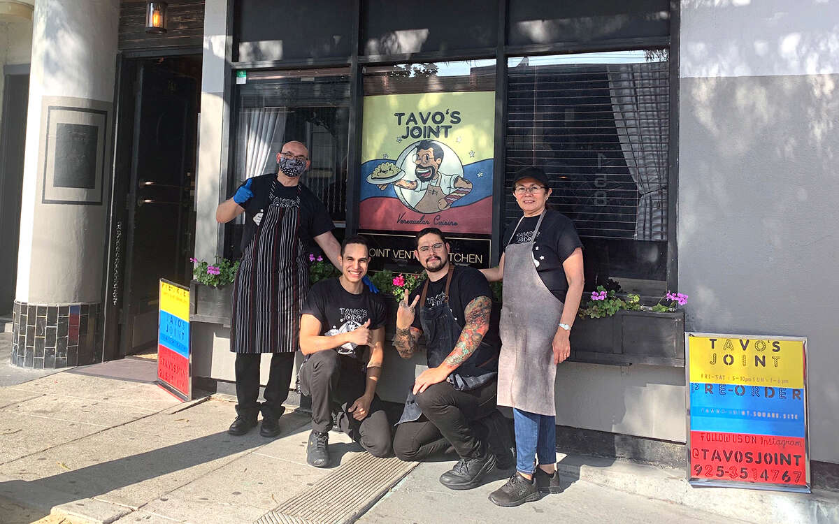 The team at Tavo's Joint pose for a photo outside of their pop-up at Joint Venture Kitchen. From left, Gustavo Villarroel, Sr., Ramon Villarroel, Gustavo Villarroel and Carmen Villarroel.
