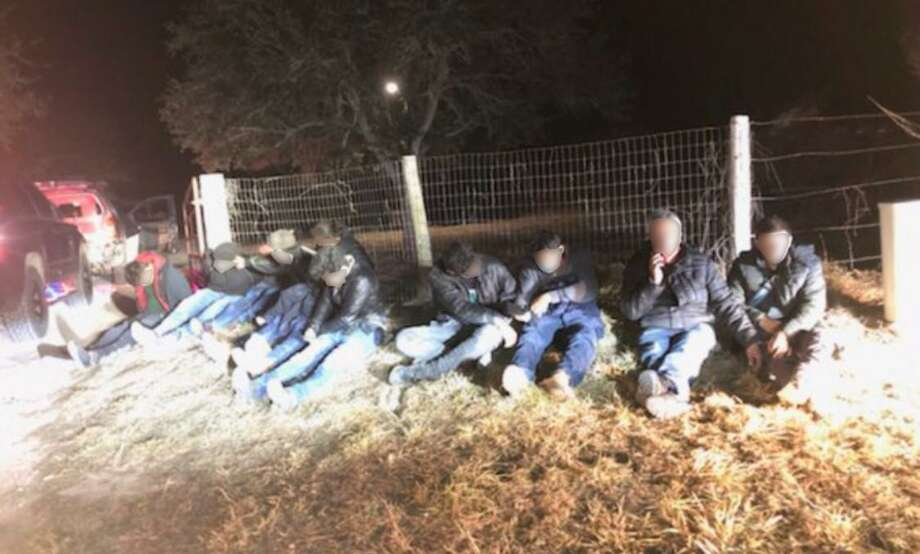 U.S. Border Patrol along with the Duval County Sheriff's Office detained these 10 individuals following a traffic stop reported southeast of Benavides. All were determined to be immigrants who had crossed the border illegally. Photo: Courtesy Photo /U.S. Border Patrol