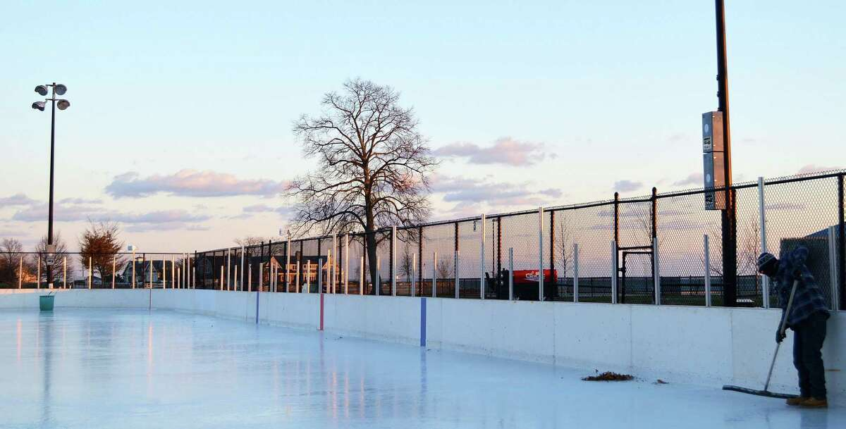 Rep Tom O'Dea imagines the rink in New Canaan could possibly by like this, the Westport Pal Rink at Longshore Club Park in Westport.