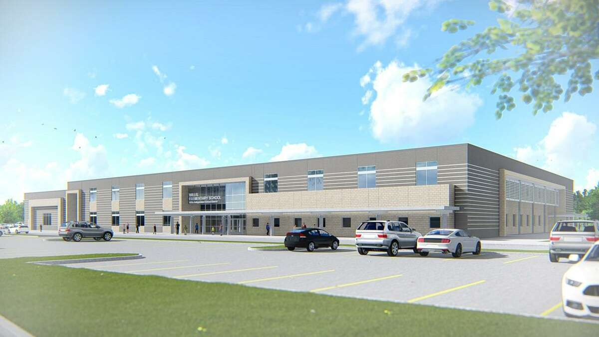 Renderings by Stantec show the exterior and interior view of the new elementary no. 6 that the Willis Independent School District has started construction on and expects to be completed by June 2021.