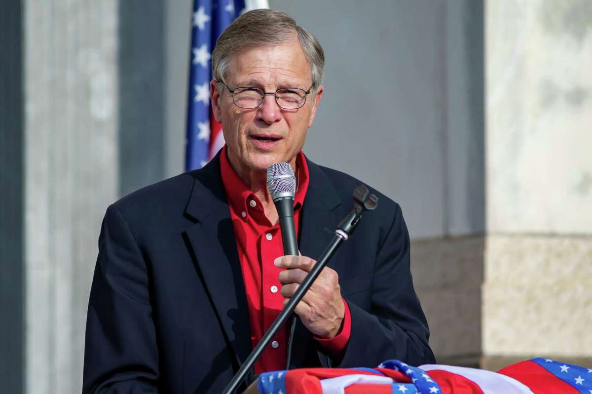 Congressman Brian Babin. A number of Southeast Texas government officials spoke at the