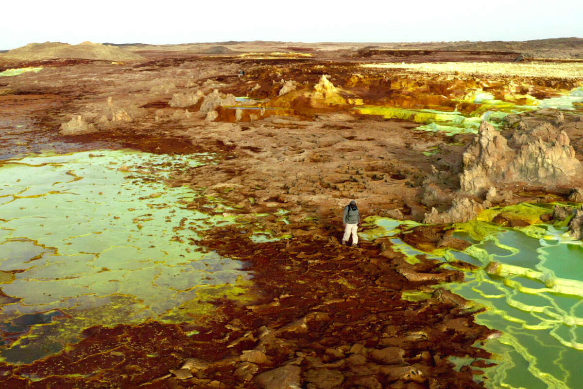 Astrobiologist Kennda Lynch explores the Danakil Depression in Ethiopia in episode 2 (