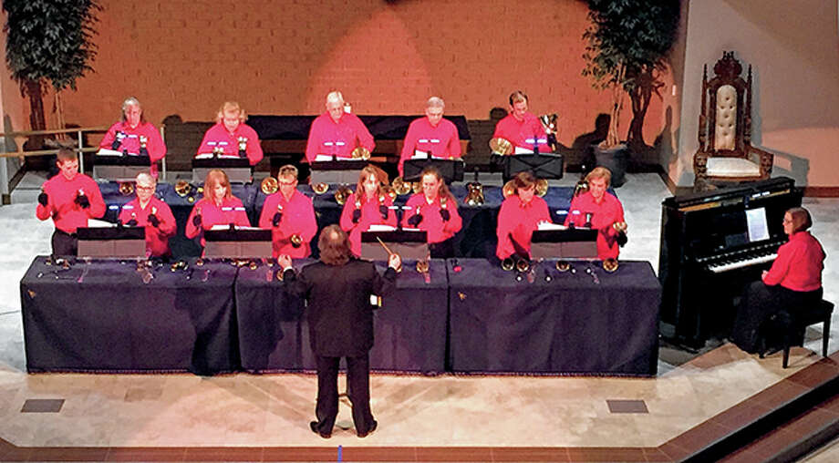 Bells of Peace Handbell Choir of Peace Lutheran Church in St. Louis will be part of Jacksonville Symphony Orchestra's holiday concert, which will be online starting Saturday. Photo: Photo Provided