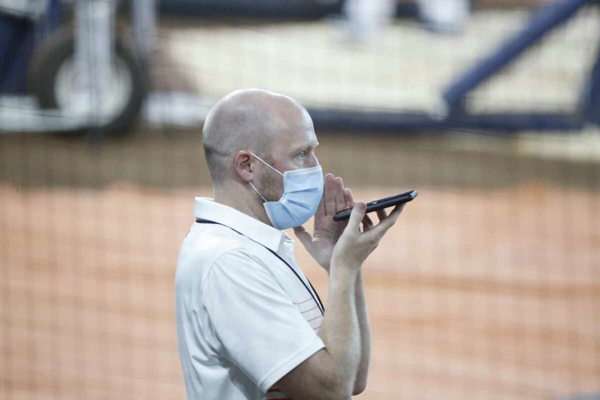 Astros general manager James Click is having to do this December's information-seeking by phone.
