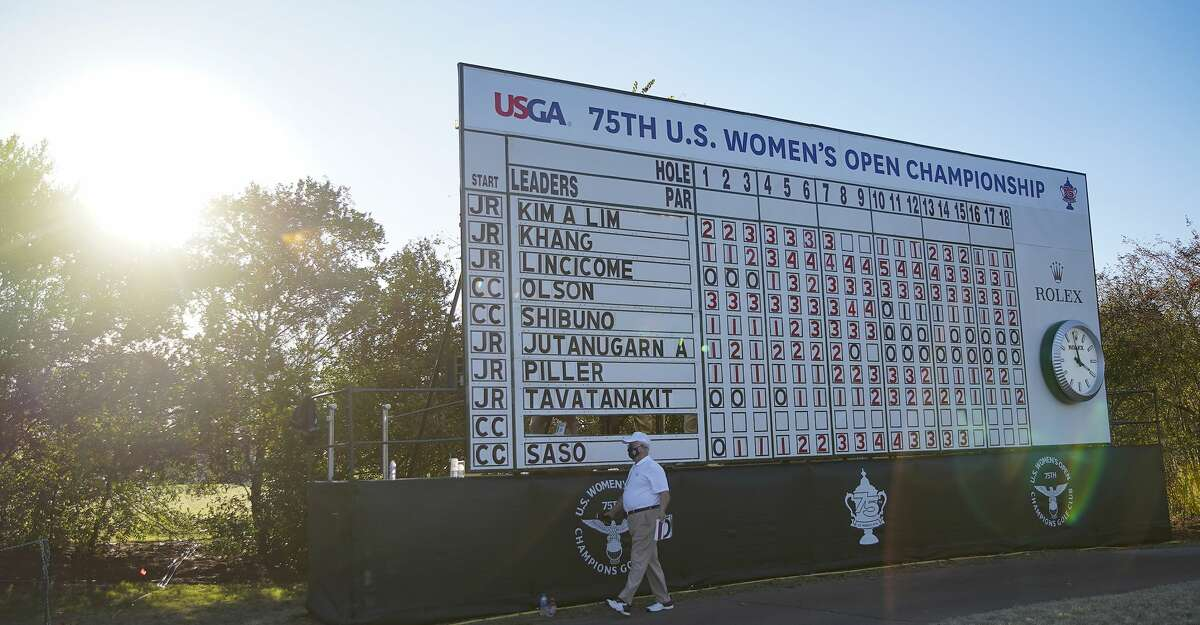 Leader board is almost complete for the first round of the U.S. Women's Open in Houston on Thursday, Dec. 10, 2020.