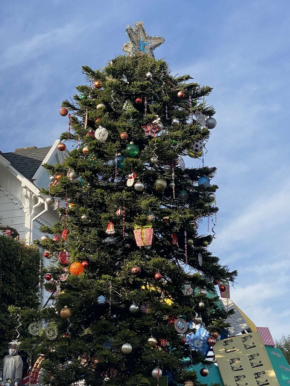 Tom and Jerry's Christmas tree in San Francisco is back, for the first time without Tom.