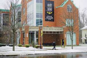 A view of the Massry Center for the Arts at The College of St. Rose on Wednesday, Dec. 9, 2020, in Albany, N.Y. The College of Saint Rose announced that it will end 16 bachelor degree, six master degree and three certificate programs to save money going forward.  (Paul Buckowski/Times Union)