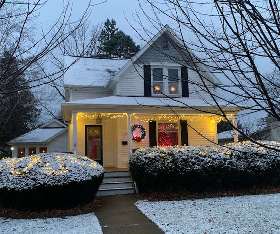 David and Kaye McDonald sent in a photo of their Christmas light display in Bad Axe. Photo: David And Kaye McDonald/Courtesy Photo